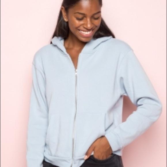 9dab1866131 Brandy Melville Jackets   Blazers - Brandy Melville Kassidy Hoodie Light  Blue Hoodie